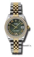 Rolex SS 18K Yellow Gold Model 178383OGDRJ