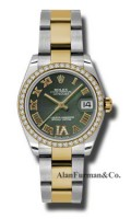 Rolex SS 18K Yellow Gold Model 178383OGDRO