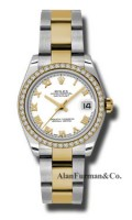 Rolex SS 18K Yellow Gold Model 178383WRO