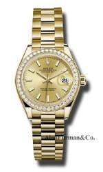 Rolex 18K Yellow Gold Model 279138RBR CHIP