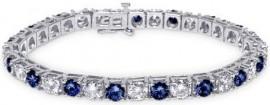 6.01CTTW Diam & Sapp Bracelet