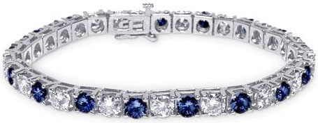 5.75CTTW Diam & Sapp Bracelet