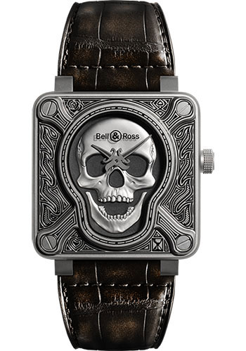 Bell And Ross Watches >> Bell Ross 46mm Model Br01 92 Burning Skull