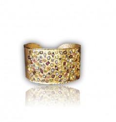 14kt Sapphire and Diamond Cuff